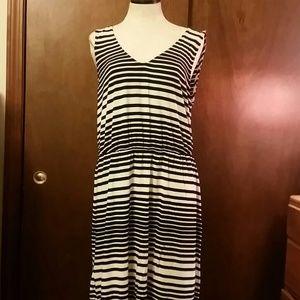 Merona Sleeveless Black and White Striped Dress